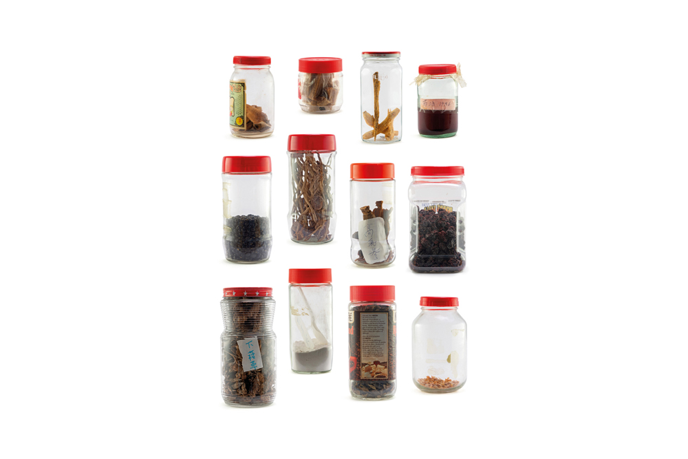 6 – Mother's Cupboard – Red Lid Jars