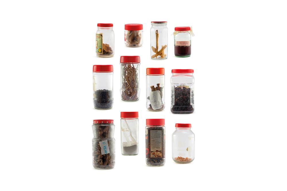 6 – Mother's Cupboard – Red Lid Jars